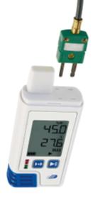 PDF温湿度データロガー(液晶表示付/外部入力2点)